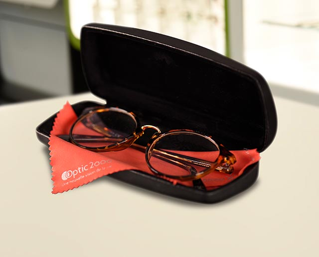 L'étui : la bonne place pour vos lunettes
